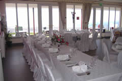 romantic wedding reception on constitution hill